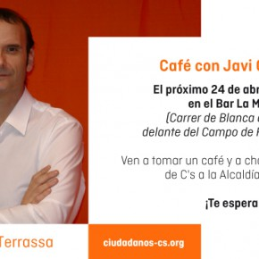 Café con el Candidato. Bar La moreneta frente Camp Futbol Poble Nou