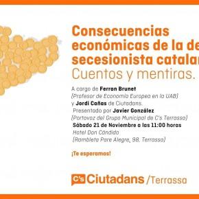 """Conferencia """"Consecuencias económicas de la deriva secesionista catalana"""""""