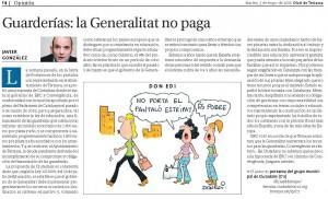 artículo en Diario de Terrassa