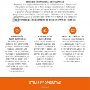 Infografía resumen del pleno de Terrassa del mes de abril