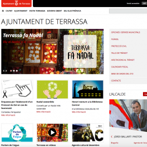 """""""El PSC de Terrassa margina al castellano en la web municipal"""""""