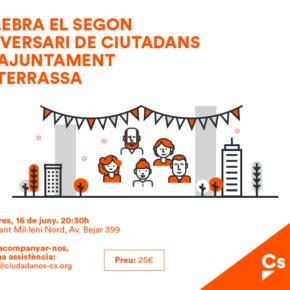 Celebración del 2º Aniversario de Cs Terrassa en el Ayuntamiento de Terrassa