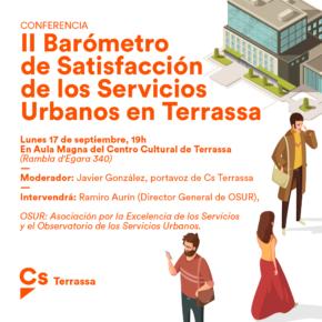 Ciudadanos (Cs) Terrassa organiza la primera presentación pública en España del último Barómetro del Observatorio de Servicios Urbanos